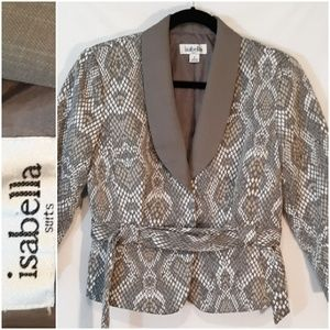 Isabella Suits Jacket in Faux Snakeskin Print